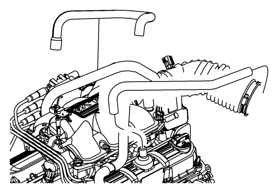 2011 Jeep Wrangler Hose. Crankcase vent. Make up air. Egt