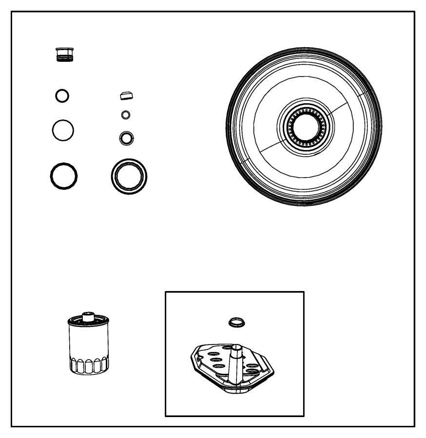 2015 Ram 3500 Sump filter kit. Transmission oil