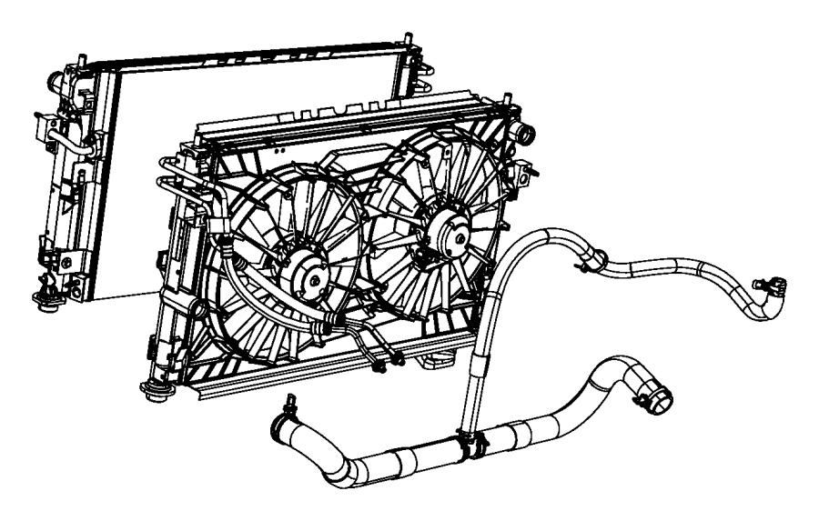 2009 Dodge Caliber Radiator. Engine cooling. [do not use