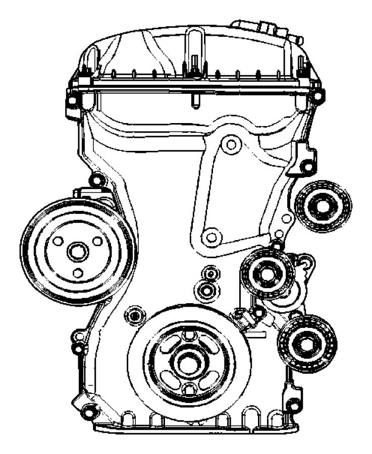 2007 Dodge Caliber Tensioner. Belt. On or after 7/1/2008