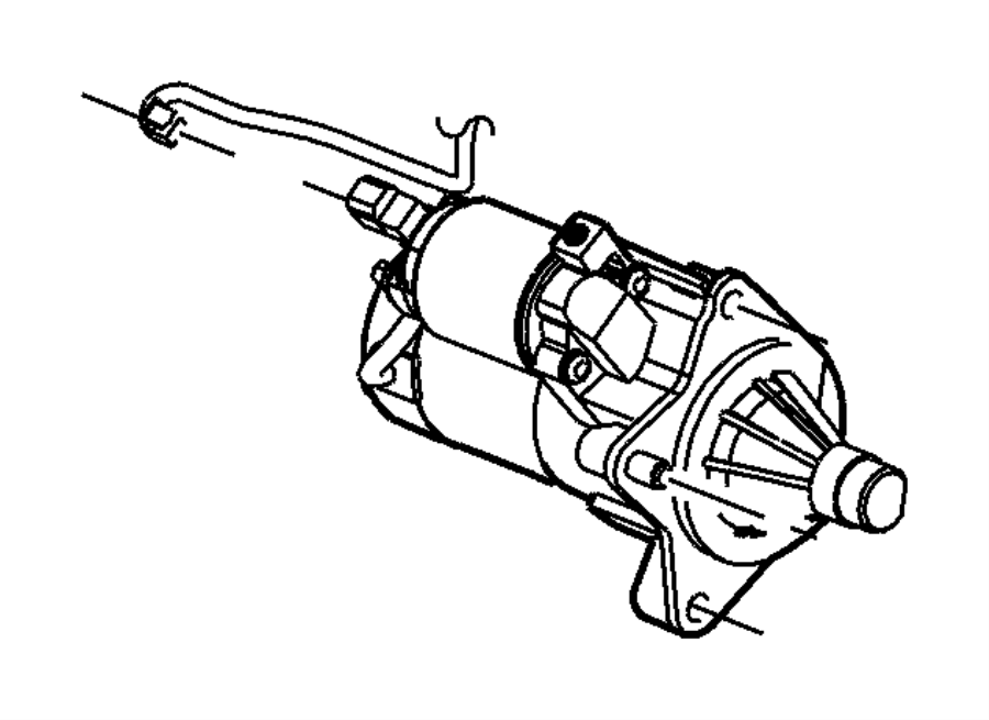 2010 Chrysler Sebring Starter. Engine. Module, maintenance