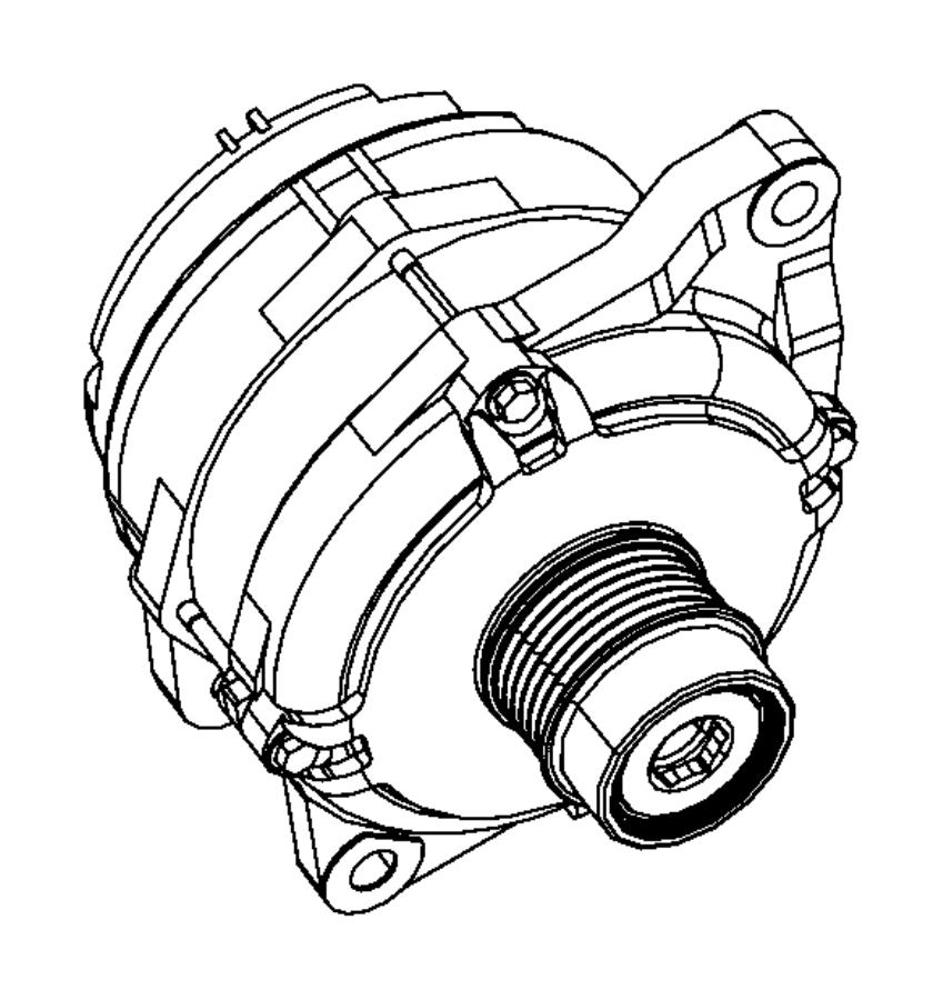 2012 Dodge Avenger Generator. Engine. [120 amp alternator