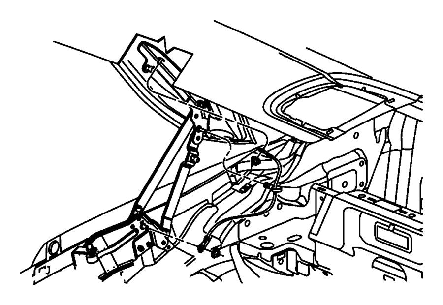 2012 Dodge Avenger Strap. Ground. Engine mount to shock