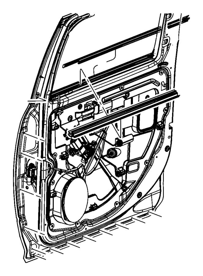 2016 Ram 1500 Weatherstrip. Rear door belt inner. Right or