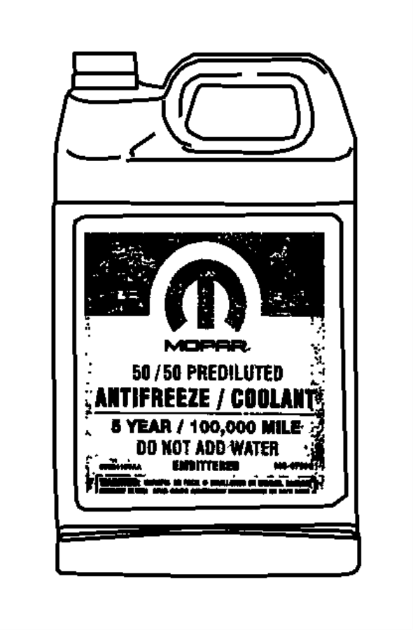 2012 Dodge Journey Antifreeze. Coolant. Gallon. Controlno