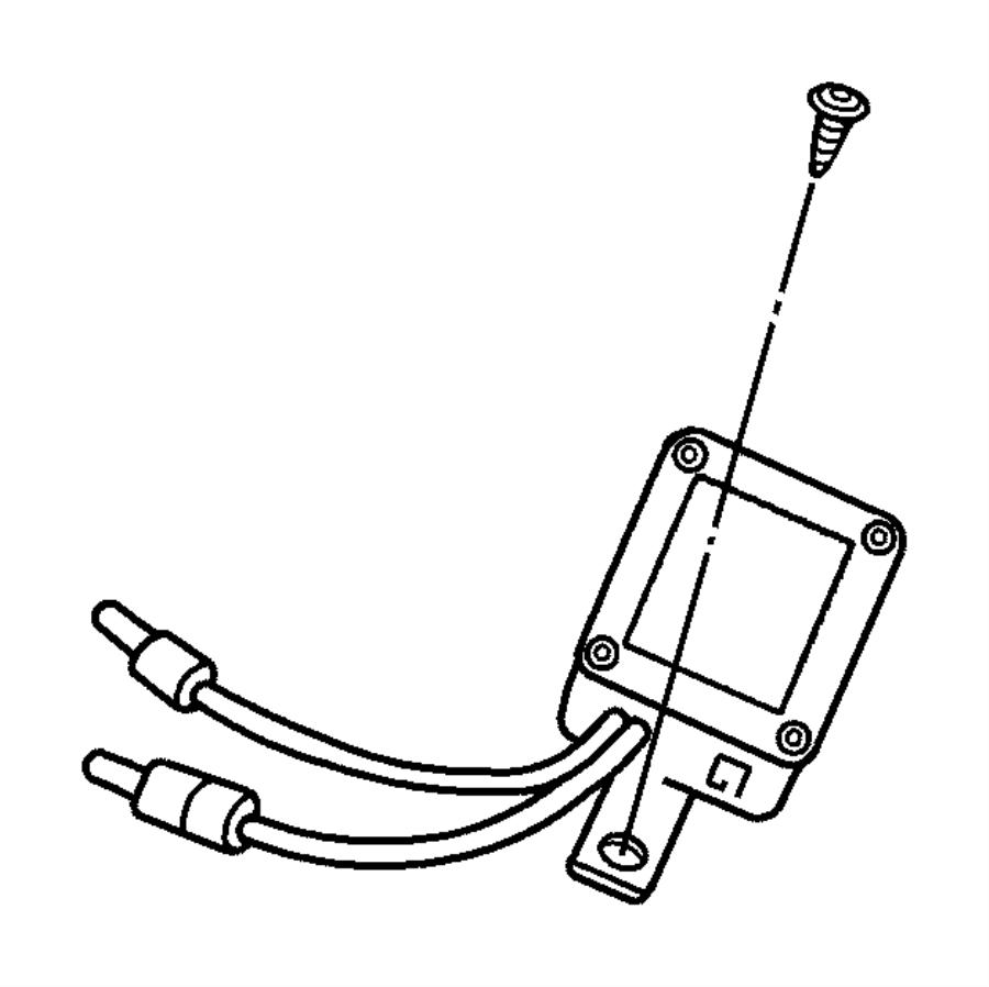 Dodge Viper Module. Radio antenna. [220 mph primary