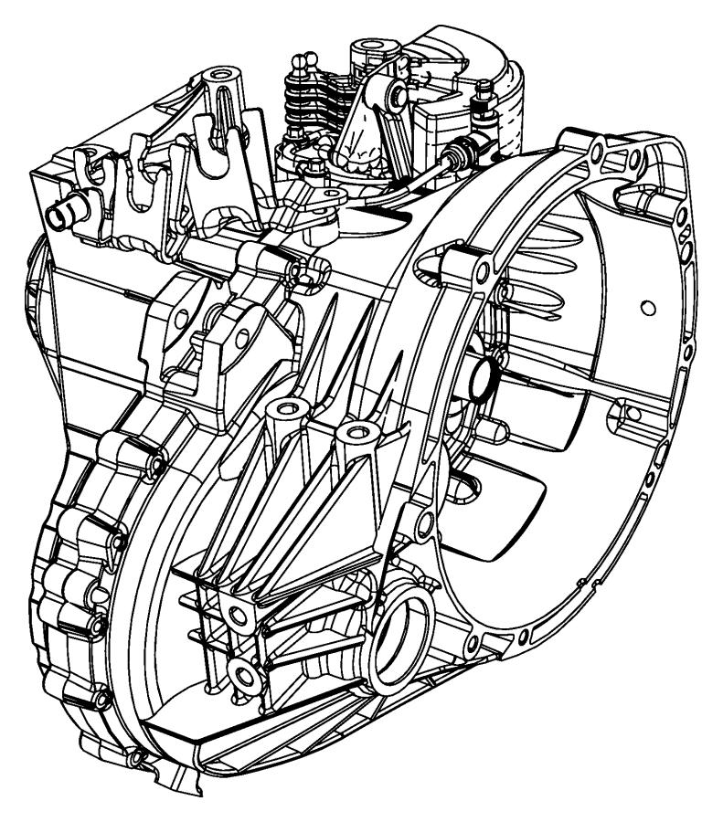2008 Dodge Caliber Trans. Transmission, transaxle