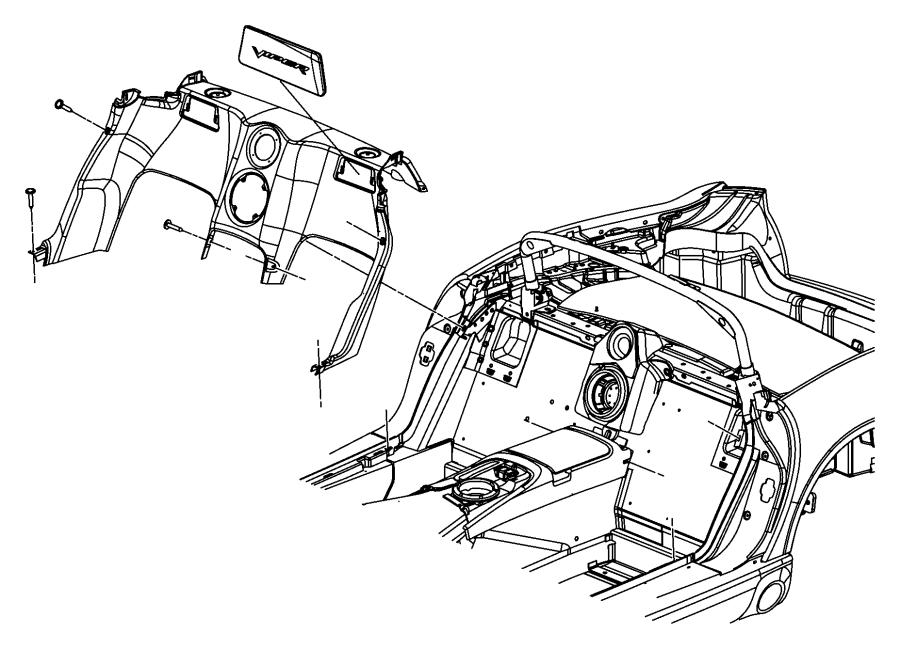 2006 Dodge Ram 1500 Screw. 190-16x1.00. Mounting, side