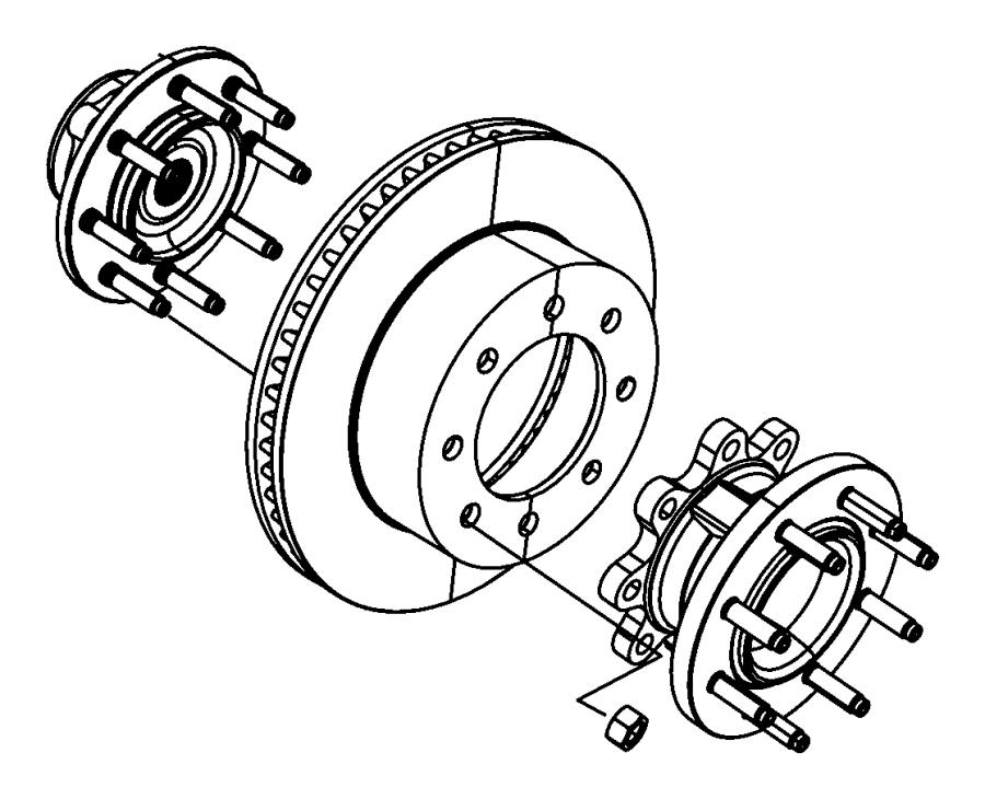 2009 Dodge Ram 3500 Hub. Brake. Axle, front, ratio