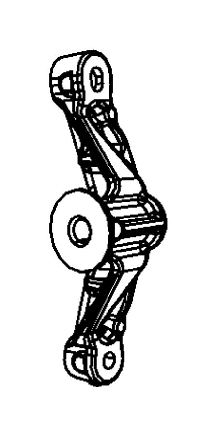 2009 Dodge Ram 2500 Bracket. Idler pulley. [heater