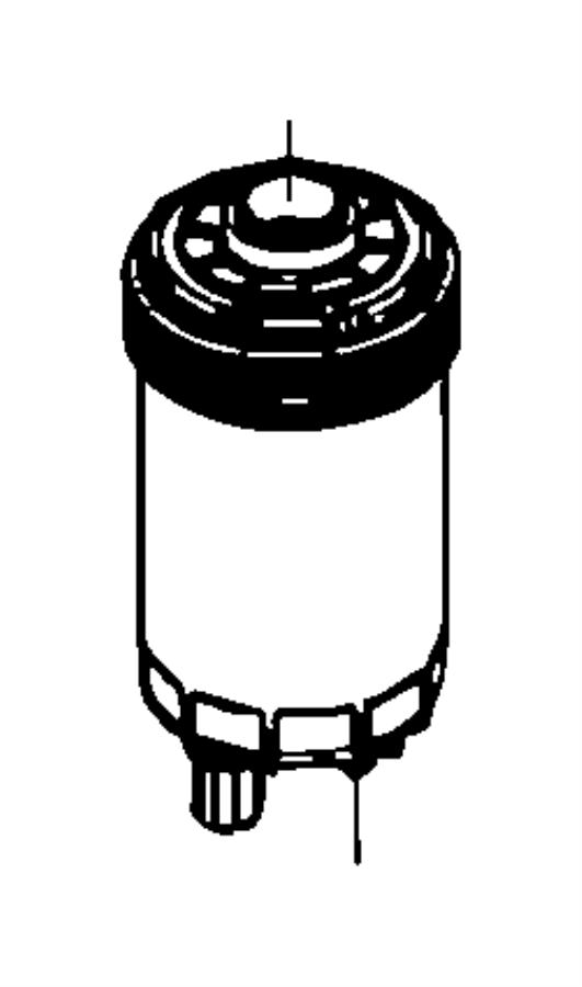 2009 Dodge Ram 4500 Element. Fuel filter. Emissions, used