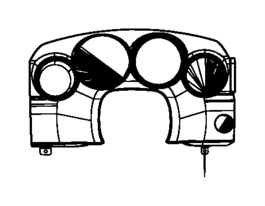 Dodge Charger Bezel. Instrument cluster. [j1], [j8]. Trim
