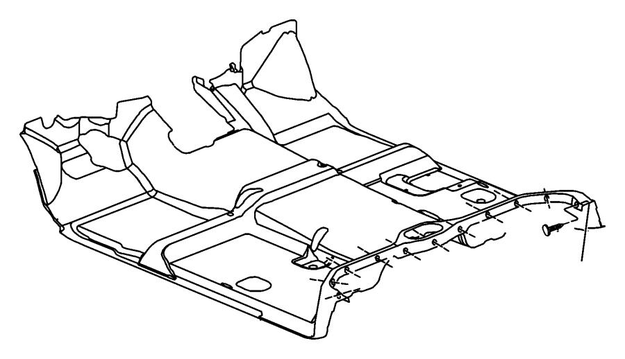 Chrysler 300 Mat. Floor. Trim: [all trim codes] color: [no