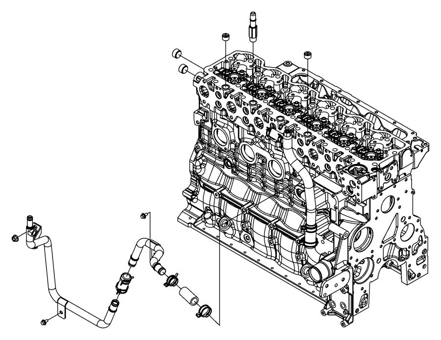 2009 Dodge Ram 4500 Tube. Heater core. Emissions, state
