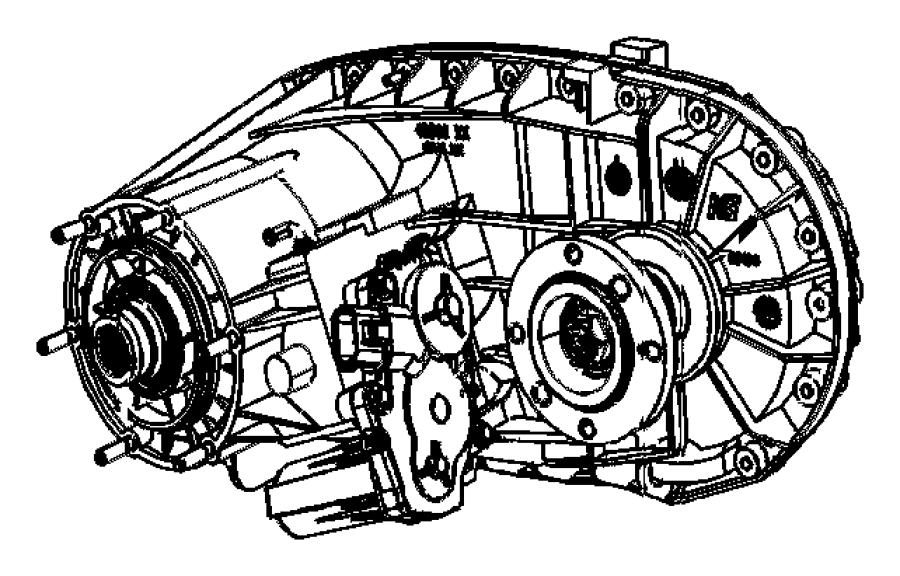 2010 Dodge Ram 2500 Transfer case. Nvg273. Manual