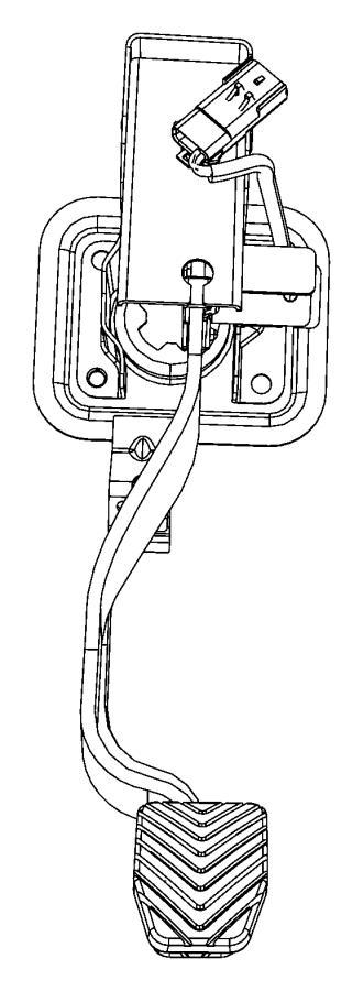 2008 Dodge Caliber Pedal. Clutch. [5-speed manual t355