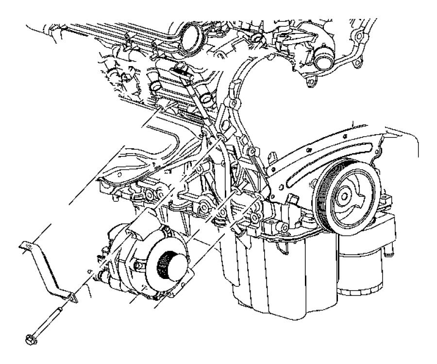 2009 Dodge Challenger Alternator. Engine. Pbab