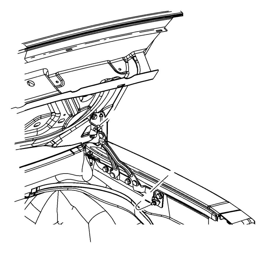 2012 Dodge Challenger Weatherstrip. Decklid. Related, body
