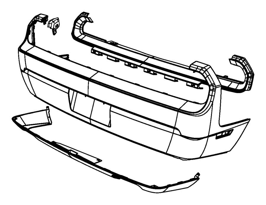 2010 Dodge Challenger Fascia. Rear. [dual rear exhaust w
