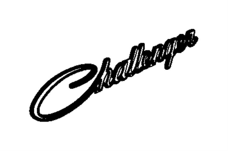 2015 Dodge Challenger Nameplate. Front fender. Challenger