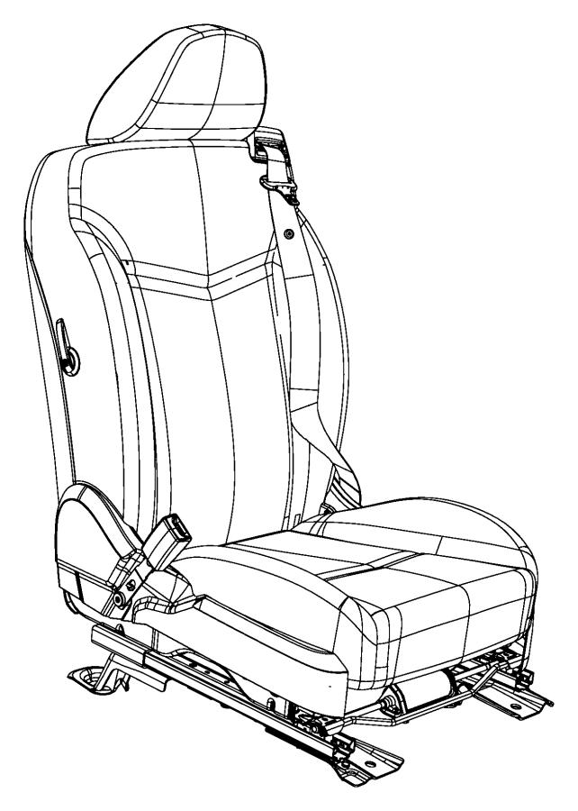 2010 Chrysler Sebring Seat belt. Retractor. Right. Trim