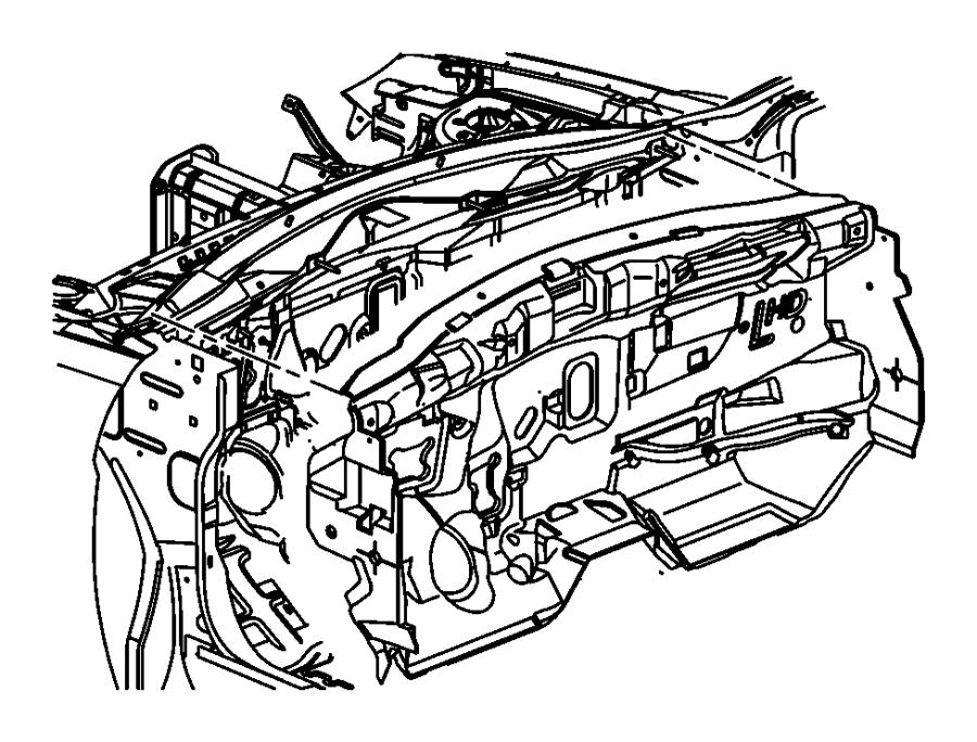 2010 Dodge Avenger Silencer. Cowl plenum panel upper