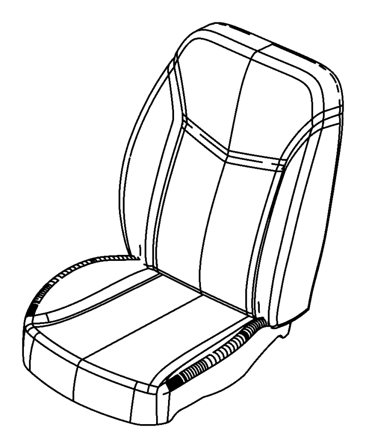Dodge Avenger Cover. Front seat back. Left. [dv]. Trim