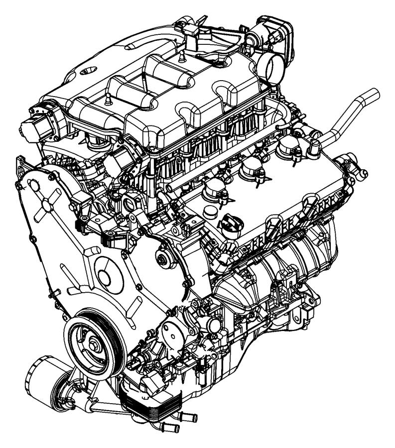 Dodge Avenger Engine. Long block. Remanufactured. Fca