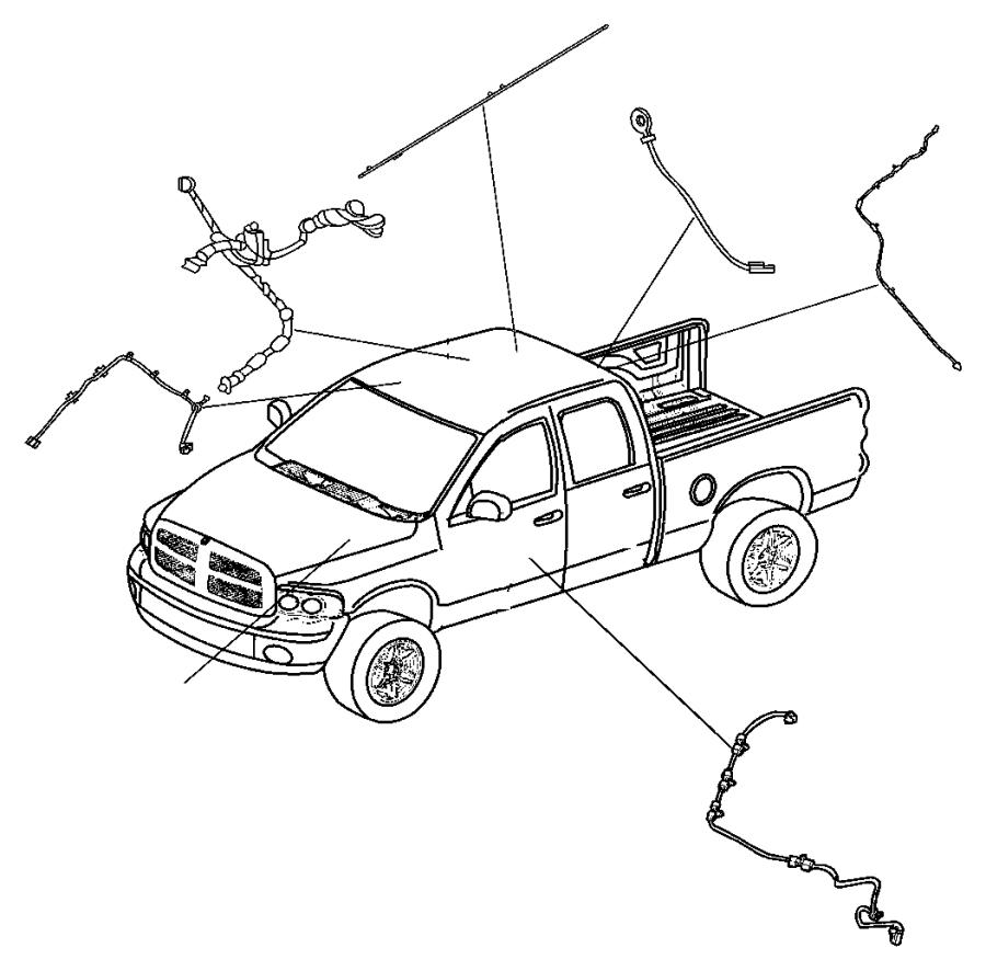 2006 Dodge Ram 1500 Wiring. Satellite antenna jumper