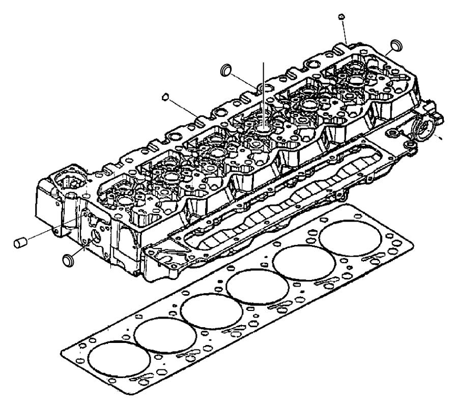 2012 Dodge Ram 2500 Head. Cylinder. Emissions, state