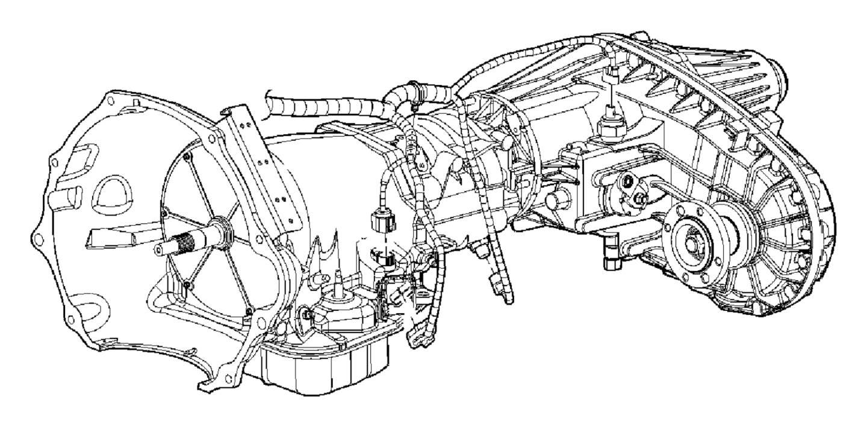 2010 Dodge Ram 5500 Wiring. Transmission. [man shift-on