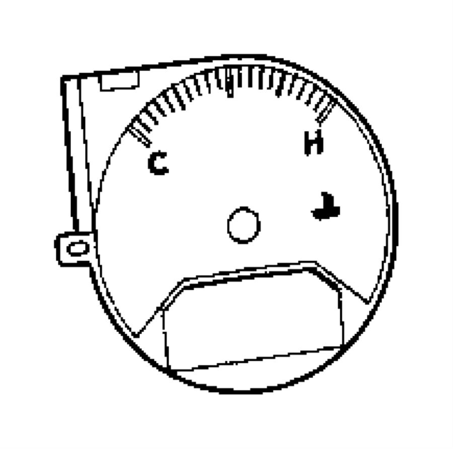 2008 Dodge Caliber Cluster. Instrument panel. [[tachometer