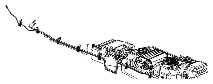 2011 Dodge Dakota Canister. Vapor. Fuel, detection, leak