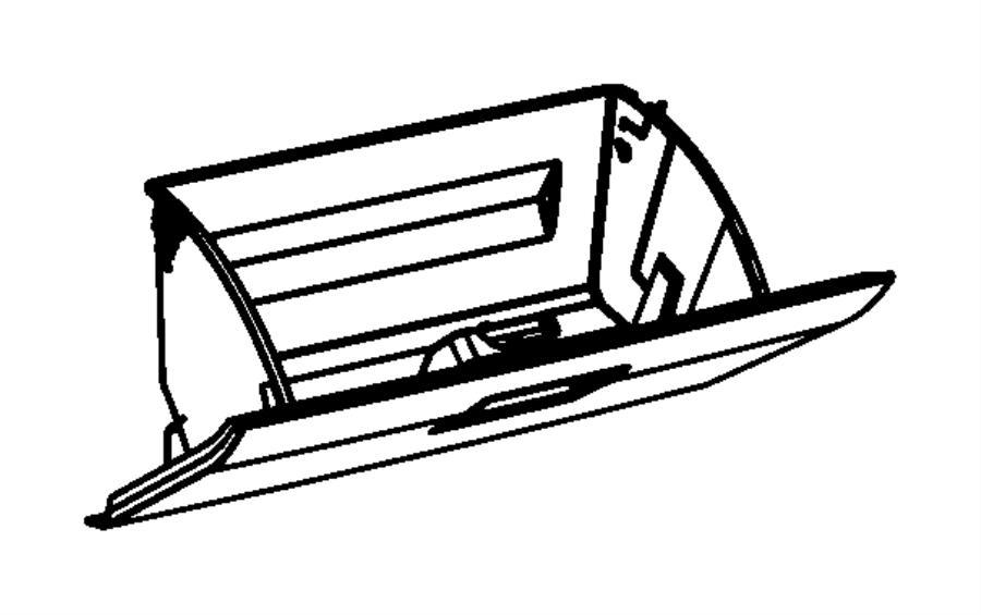 2008 Chrysler Sebring Latch. Glovebox, glovebox door. [da