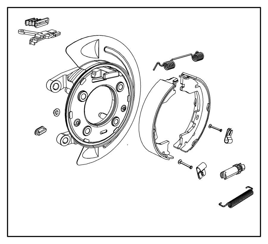 2011 Dodge Ram 2500 Adapter assembly. Parking brake