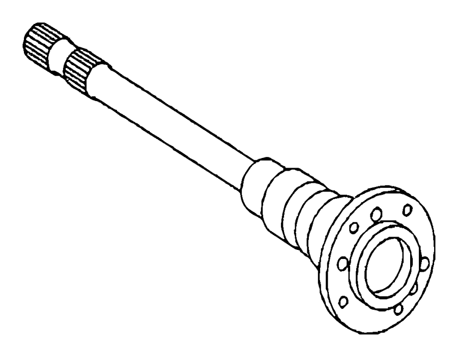 Dodge SPRINTER Shaft. Axle. Right. Special, version, see