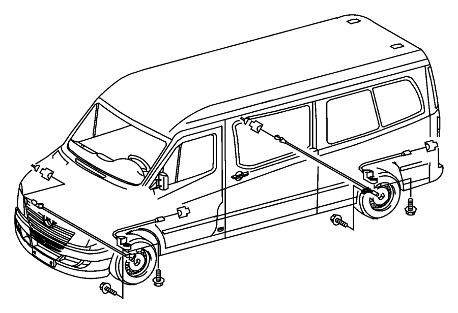 Dodge Sprinter Sensor Wheel Speed Front Axle