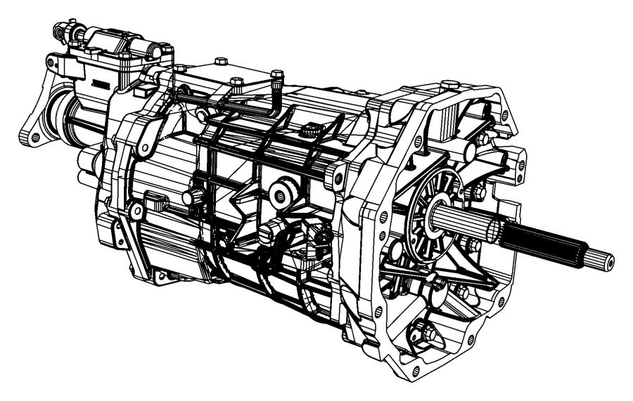 2013 Dodge Challenger Trans. Transmission, transaxle