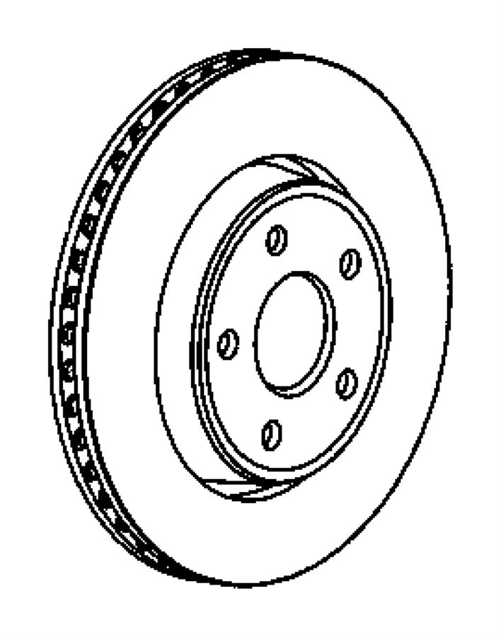 2008 Jeep Grand Cherokee Rotor. Brake. Front. Brakes