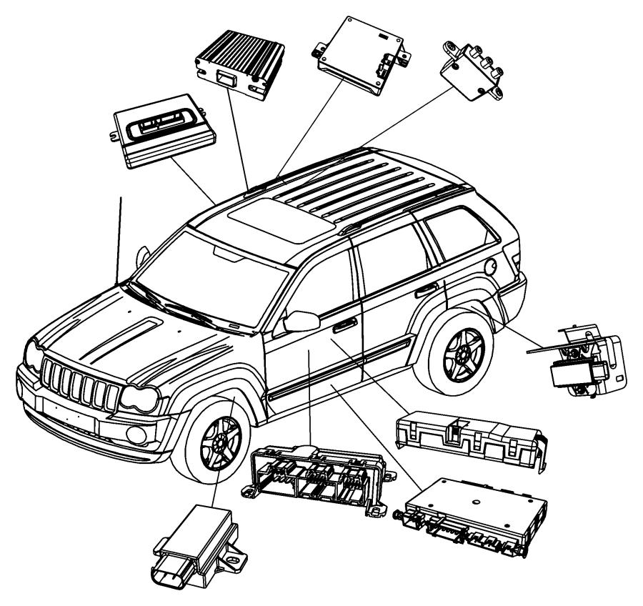 2007 Jeep Grand Cherokee Module. Transfer case control
