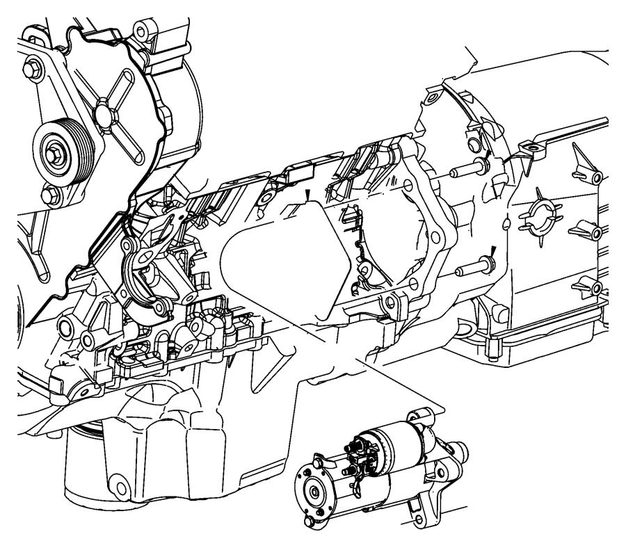 2009 Dodge NITRO Starter. Engine. Remanufactured