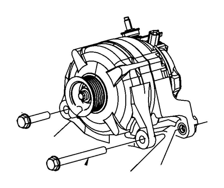 2008 Dodge NITRO Alternatr. Engine. [160 amp alternator