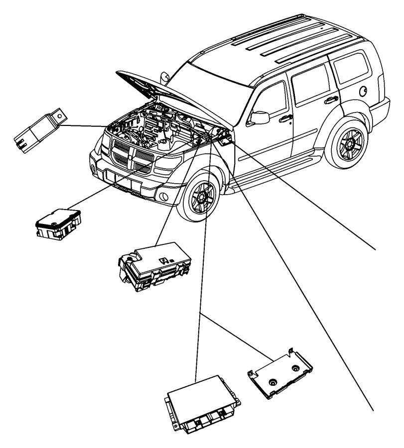 2010 Dodge NITRO Module. Anti-lock brake system. Stability