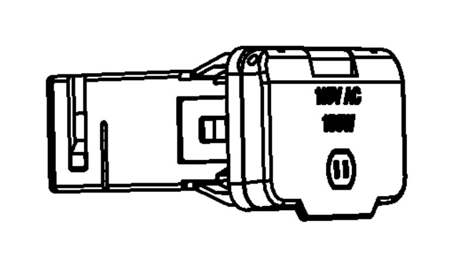 2009 Dodge Grand Caravan Power outlet. Inverter. Trim