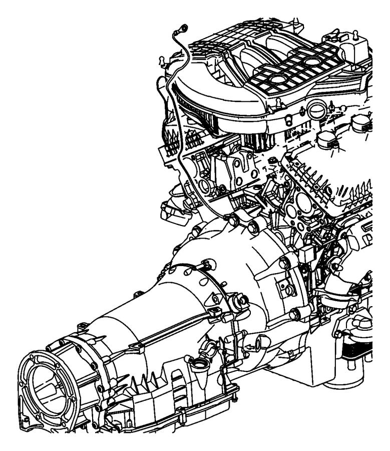 2010 Dodge NITRO Strap. Ground. Engine to body