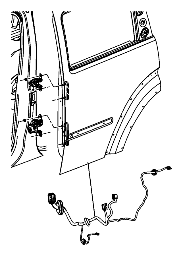 Dodge NITRO Wiring. Rear door. Right or left. Speakers