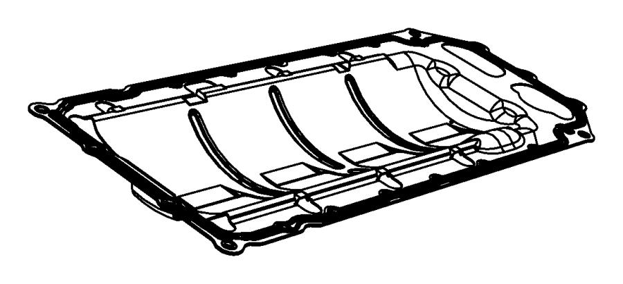 Jeep Grand Cherokee Gasket. Oil pan. Mounting. Engine, esf