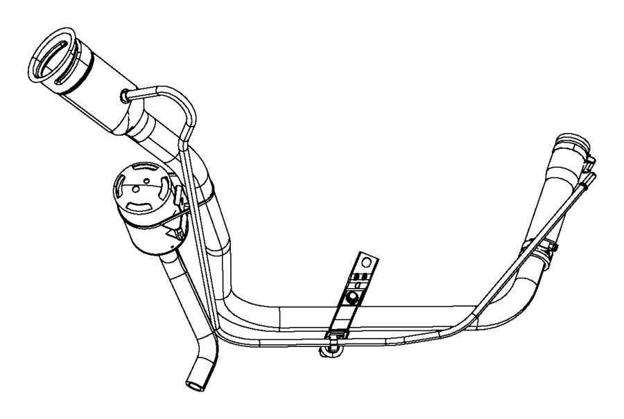 Dodge NITRO Tube. Fuel filler. Fresh, restrictor, clamps