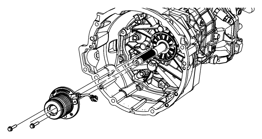 2016 Dodge Challenger Actuator assembly. Clutch concentric