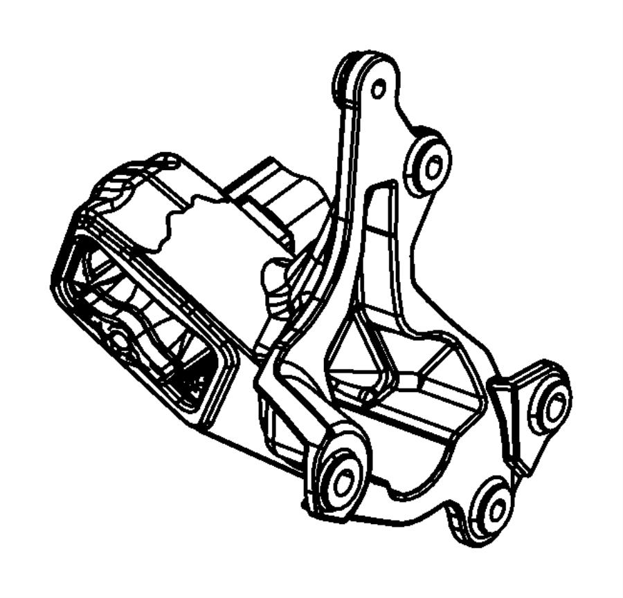 2009 Jeep Wrangler Isolator. Engine mount. Left, left side